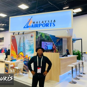 OlyLukis at Malaysia Airport Holdings Berhad Stand in World Routes 2019, Adelaide.
