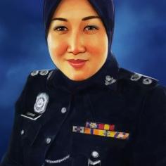 Lukisan Potret Digital Anggota PDRM