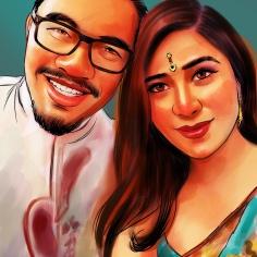 Malaysia's No.1 Digital Portrait Artist For E- Invitation Card