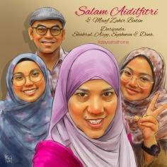 Lukisan Potret Digital Keluarga Malaysia