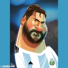 Caricature of Lionel Messi by OlyLukis