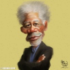 Caricature of Morgan Freeman