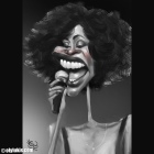 Caricature of Whitney Houston