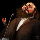 Caricature of Luciano Pavarotti