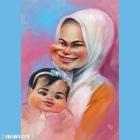 Karikatur Dato' Sri Siti Nurhaliza dan Aafiyah.