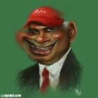Digital Caricature Painting of Tan Sri Tony Fernandes.