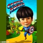 Superhero Themed Caricature