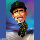 Caricature of Hafizh Syahrin