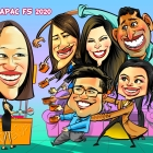 Office Mate Group Caricature